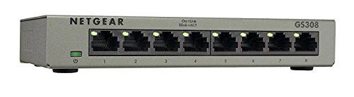 Desktop NETGEAR 8-Port Gigabit Ethernet Unmanaged Switch Internet Splitter St