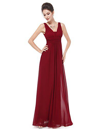 Ever-Pretty Double V-Neck Elegant Ruched Waist Ladies Long Evening Dress  08110  cc04a2e41