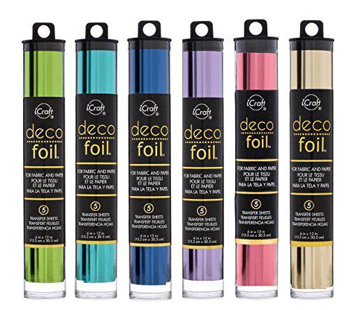 """SPRING GREEN Pack of 5 sheets Thermoweb Deco Foil 6x12/"""""""